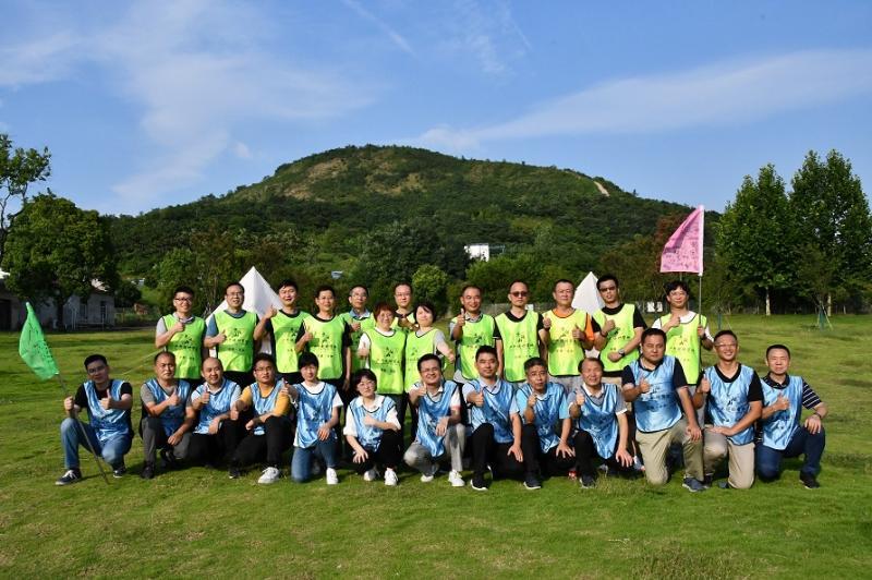 凝心聚气 团结协作 固泰公司组织中层干部青阳山团建活动
